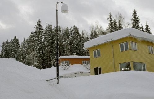 Dronning Sonjas Barndomshjem, et gult funkis trehus på friluftsmuseet Maihaugen på Lillehammer.