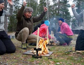 Vinnerne avbåltenningskonkurransen. Foto: Esben Haakenstad