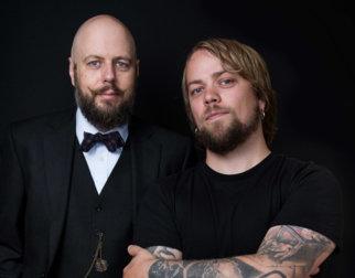 Presten Stian Kilde Aarebrot og ateisten Didrik Søderlind.