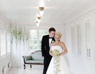 Brudepar i Maihaugrestauranten på Maihaugen, Lillehammer
