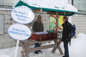 Boden til venneforeningen til Maihaugen under julemarkedet på Maihaugen på Lillehammer.
