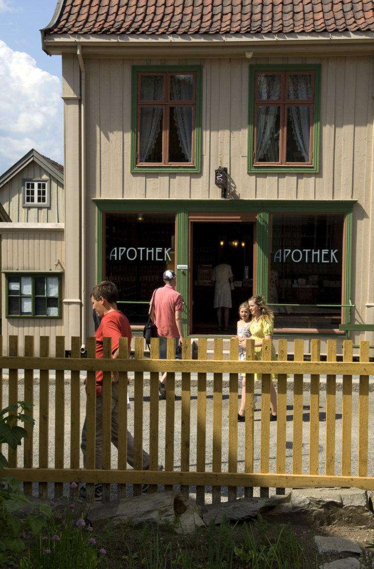 Det gamle apoteket på Maihaugen. Foto: Camilla Damgård.