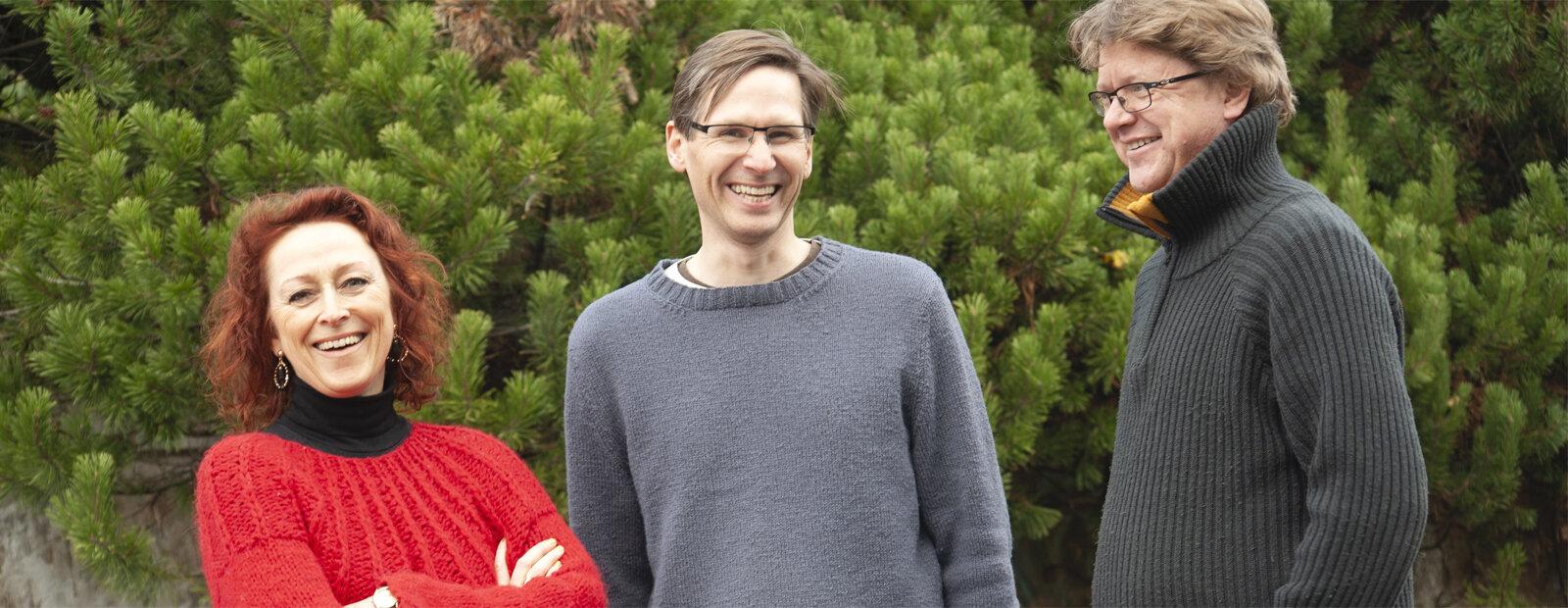 Camilla Granlien, Bjørn Sigurd Glorvigen og Vegar Vårdal.