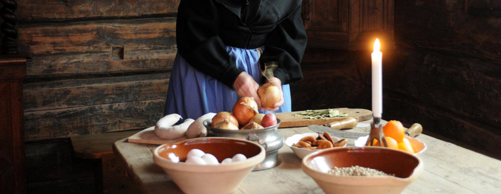 Mat i gammelt hus