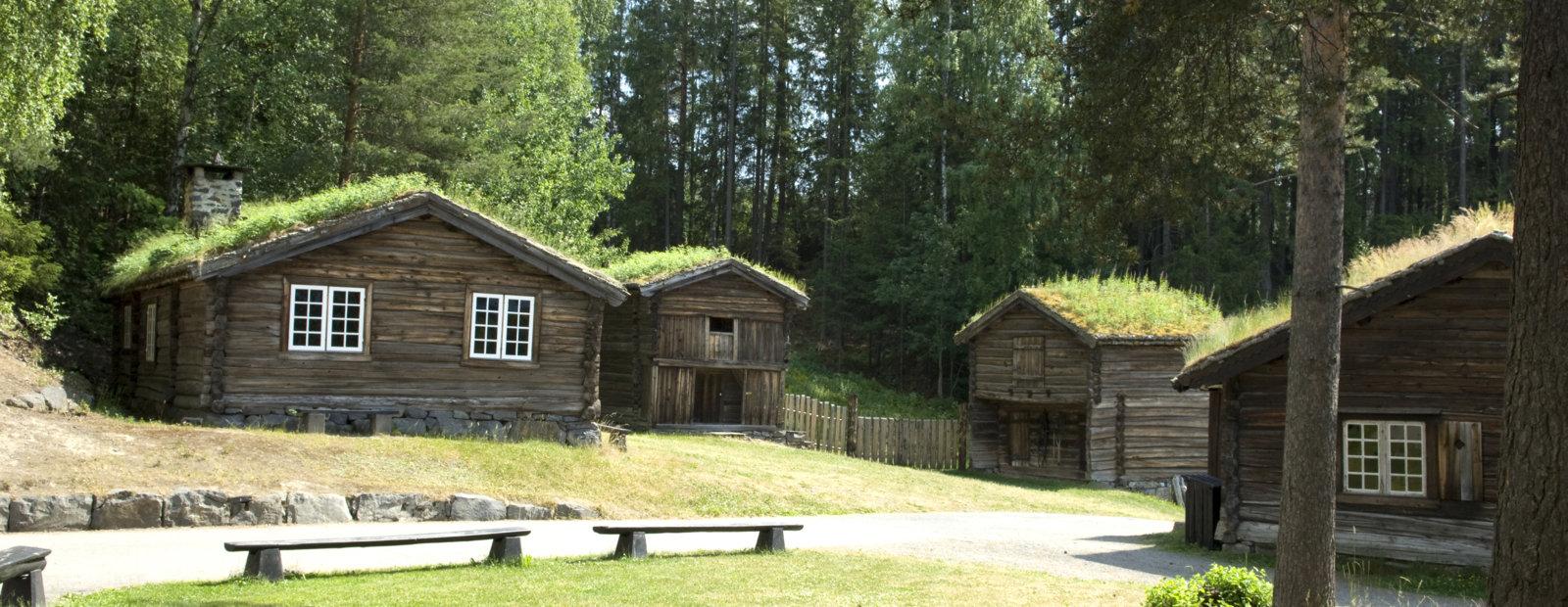 Hus fra bygdesamfunnet på Maihaugen, Lillehammer