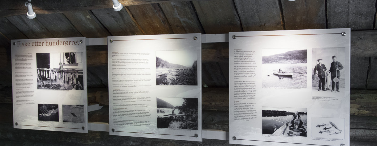Utstilling Fiskevollen, Maihaugen, Lillehammer Foto: Audbjørn Rønningen.