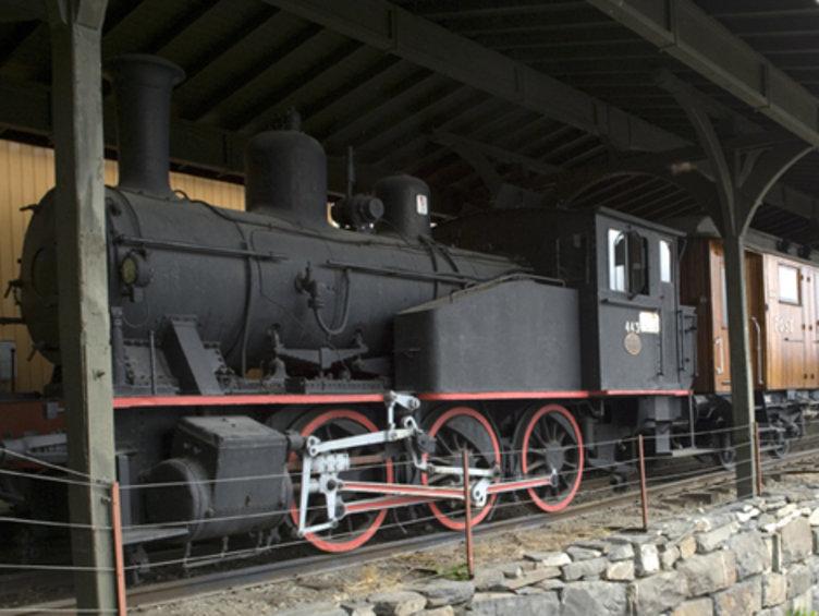Lokomotiv på Maihaugen. Foto: Maihaugen