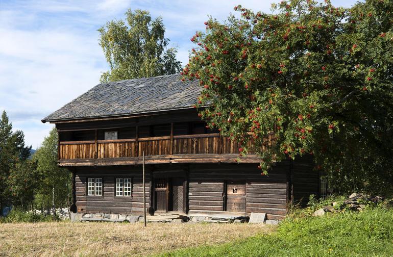 Lensmannsarresten, et gammelt tømmerhus på Maihaugen.